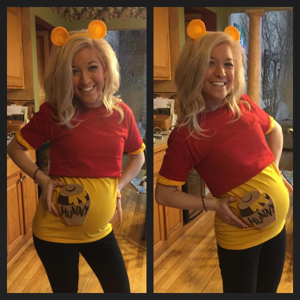 Easy DIY Winnie the Pooh pregnancy costumes for halloween  sc 1 st  Preconception Pregnancy and Postpartum - WordPress.com & winnie-the-pooh-pregnant-costume-halloween